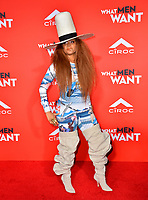 LOS ANGELES, CA. January 28, 2019: Erykah Badu at the US premiere of &quot;What Men Want!&quot; at the Regency Village Theatre, Westwood.<br /> Picture: Paul Smith/Featureflash