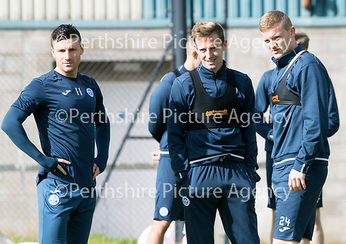 St Johnstone Training&hellip;.15.09.17<br />Steven MacLean pictured during training this morning at McDiarmid Park ahead of tomorrow&rsquo;s game at Dundee alongside Michael O&rsquo;Halloran and Brian Easton<br />Picture by Graeme Hart.<br />Copyright Perthshire Picture Agency<br />Tel: 01738 623350  Mobile: 07990 594431