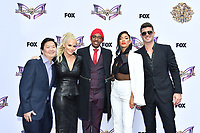 """LOS ANGELES - JUNE 4: From left: Ken Jeong, Jenny McCarthy, Nick Cannon, Nicole Scherzinger and Robin Thicke attend an Emmy FYC event for Fox's """"The Masked Singer"""" at Westfield Century City on June 4, 2019 in Los Angeles, California. (Photo by Vince Bucci/Fox/PictureGroup)"""