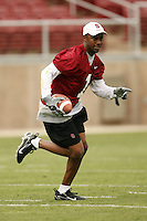 21 April 2007: Willie Taggart during the alumni's 38-33 victory over the coaching staff during a flag football exhibition at Stanford Stadium in Stanford, CA.