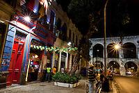 Rio de Janeiro_RJ, Brasil.. .Fachada de galpoes culturais e os Arcos da Lapa, Rio de Janeiro...Bar a and Lapa arch in Rio de Janeiro...Foto: BRUNO MAGALHAES / NITRO