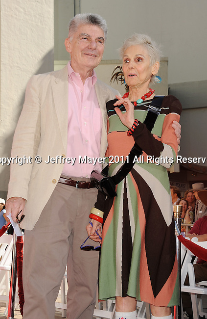 HOLLYWOOD, CA - APRIL 30: Richard Benjamin and Paula Prentiss attend the TCM Classic Film Festival honors Actor Peter O'Toole with hand and foot ceremony held at Grauman's Chinese Theatre on April 30, 2011 in Hollywood, California.