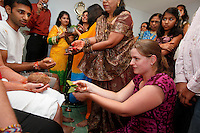 Indian wedding ceremonies of Gopal Parekh and Joanna Bell on Friday, August 19, 2011.
