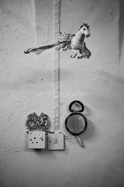 25..3.2015 Kirkuk,Iraq. christian icon hanging on the wall.