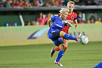 Portland, OR - Saturday July 30, 2016: Jessica Fishlock during a regular season National Women's Soccer League (NWSL) match between the Portland Thorns FC and Seattle Reign FC at Providence Park.