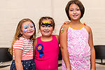 TORRINGTON, CT. 25 August 2018-082518 - From left, Bella Dusi, 6, of Winsted, Piper, 7, and Ellie Lloyd, 9, of Torrington enjoy themselves during the Family Arts day at the Warner Theatre Center for Arts Education in Torrington on Saturday afternoon. Bill Shettle Republican-American