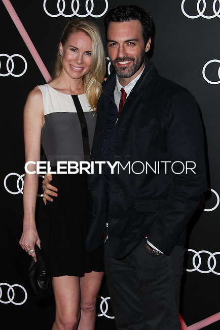 LOS ANGELES, CA - JANUARY 09: Elspeth Keller, Reid Scott at the Audi Golden Globe Awards 2014 Cocktail Party held at Cecconi's Restaurant on January 9, 2014 in Los Angeles, California. (Photo by Xavier Collin/Celebrity Monitor)