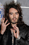 "WESTWOOD, CA. - December 18: Actor Russell Brand arrives at the Los Angeles premiere of ""Bedtime Stories"" at the El Capitan Theatre on December 18, 2008 in Hollywood, California."