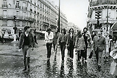 PINK FLOYD - Nick Mason, Richard Wright, David Gilmour, Roger Waters - walking on the streets of Paris France - 22 Jan 1969.  Photo credit: Christian Rose/Dalle/IconicPix **AVAILABLE FOR UK ONLY**