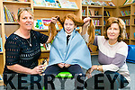 Blennerville National School Third year Student 9 year old Kayla O'Connor from  is cutting her hair on Thursday 27th October at 11am at the school and donating her long locks to the Princess Trust charity who make wigs for children with cancer Pictured here with Ann Marie Scott, SNA and Hairdresser, and 3rd class teacher and grandmother, Liz O'Connor