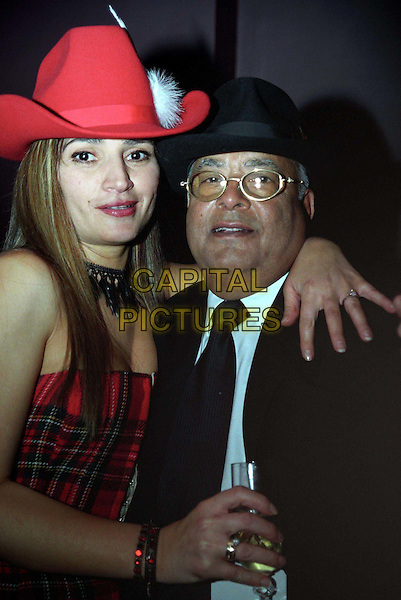 MR HINDUJA.The Man Behind A Political Scandal Involving A Passport Application in 2001 at Rouge Bar Launch Party With Mystery Blonde.Ref: Almasi.hats, half length, half-length.www.capitalpictures.com.sales@capitalpictures.com.©Capital Pictures