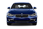 Car photography straight front view of a 2017 BMW 3 Series Touring Luxury 5 Door Wagon
