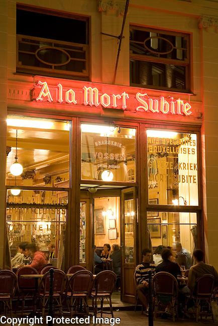 A la Mort Subite Cafe and Bar, Brussels; Belgium; Europe