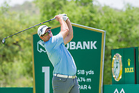 Ryan Fox (NZL) on the 18th tee during the first round at the Nedbank Golf Challenge hosted by Gary Player,  Gary Player country Club, Sun City, Rustenburg, South Africa. 14/11/2019 <br /> Picture: Golffile | Tyrone Winfield<br /> <br /> <br /> All photo usage must carry mandatory copyright credit (© Golffile | Tyrone Winfield)