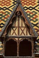 Europe/France/Bourgogne/21/Côte d'Or/Beaune: Les hospices de Beaune - Les toits en tuile vernissées de l'Hotel Dieu