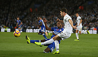 Burnley's Robbie Brady is tackled by Leicester City's Ricardo Pereira<br /> <br /> Photographer Stephen White/CameraSport<br /> <br /> The Premier League - Saturday 10th November 2018 - Leicester City v Burnley - King Power Stadium - Leicester<br /> <br /> World Copyright &copy; 2018 CameraSport. All rights reserved. 43 Linden Ave. Countesthorpe. Leicester. England. LE8 5PG - Tel: +44 (0) 116 277 4147 - admin@camerasport.com - www.camerasport.com