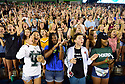 Nearly 2,000 incoming Freshmen attend orientation and pep rally at Yulman Stadium where they posed for class photo.