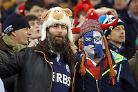 A Wales and Scotland fan during the RBS 6 Nations Championship rugby game between Wales and Scotland at the Principality Stadium, Cardiff, Wales, UK Saturday 13 February 2016