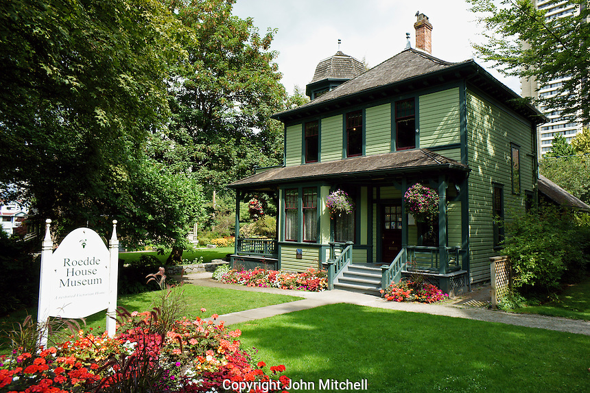 The Roedde House Museum in downtown Vancouver, British Columbia, Canada