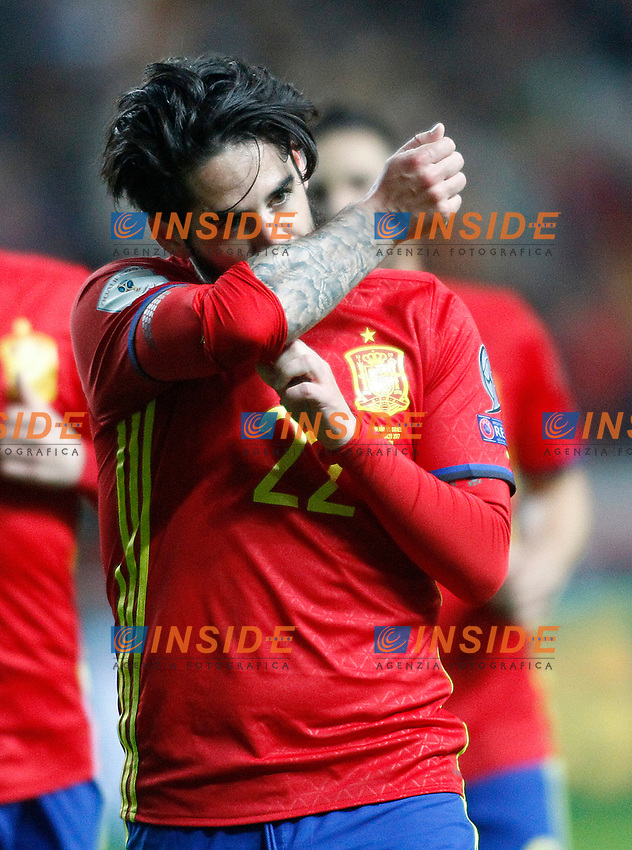 Spain's Isco Alarcon celebrates goal during FIFA World Cup 2018 Qualifying Round match. <br /> Gijon 24-03-2017 Stadio El Molinon <br /> Qualificazioni Mondiali <br /> Spagna - Israele <br /> Foto Acero/Alterphotos/Insidefoto <br /> ITALY ONLY