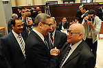 Newly Secretary General of the Egyptian Representatives Ahmed Saad take part during extraction identity cards for Newly members Egyptian Representatives in Cairo, Egypt, on Dec. 09, 2015. Photo by Stranger