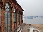 Pagoda Anchorage Custom House, With The Once Island Visible Through The Haze.  Mawei, Fuzhou (Foochow).