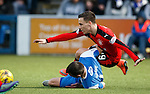 Barrie McKay flattened by Andy Dowie