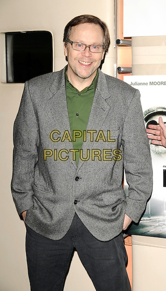 "FERNANDO MEIRELLES.""Blindness"" Charity Screening at the Apollo West End, Regent Street, London, England, October 31st 2008..half length grey gray jacket beard director glasses green shirt.CAP/CAN.©Can Nguyen/Capital Pictures"