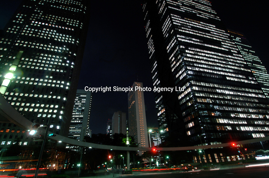 Commercial buildings in the Shinjuku business district of Tokyo, Japan..27 Jul 2006