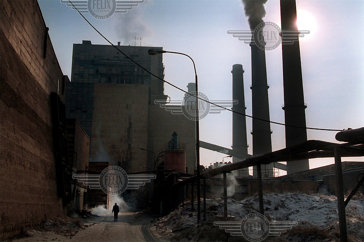 KOSOVO. Obilic. 14/01/2000..Obilic Power Station who's failure to function properly is causing power cuts all over Kosovo..©Andrew Testa