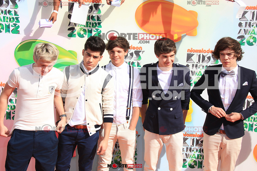 One Direction at Nickelodeon's 25th Annual Kids' Choice Awards at The Galen Center on March 31, 2012 in Los Angeles, California. © mpi26/MediaPunch Inc.