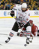 Braden Pimm (Northeastern - 14), Alex Killorn (Harvard - 19) - The Northeastern University Huskies defeated the Harvard University Crimson 4-0 in their Beanpot opener on Monday, February 7, 2011, at TD Garden in Boston, Massachusetts.