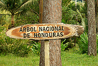 Sign at Lancetilla Botanical Garden, Honduras. Lancetilla Garden was established by American botanist William Popenoe in 1926.