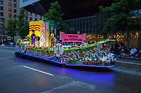 Vietnam Boat Float, Seafair Torchlight Parade 2015, Seattle, Washington State, WA, America, USA.