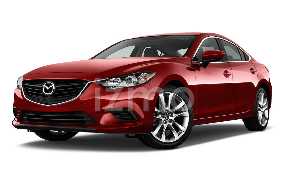 Low aggressive front three quarter view of a 2014 Mazda Mazda6 i Touring Sedan