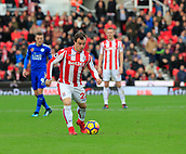 4th November 2017, bet365 Stadium, Stoke-on-Trent, England; EPL Premier League football, Stoke City versus Leicester City; Xherdan Shaqiri of Stoke City moves the ball forward