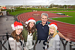 Pictured getting ready for the 'Gold Mile' at An Riocht Track on Christmas Day, from left: Kate McSweeney, Sheena Brosnan, Hugh O'Connor and Anne Horgan.