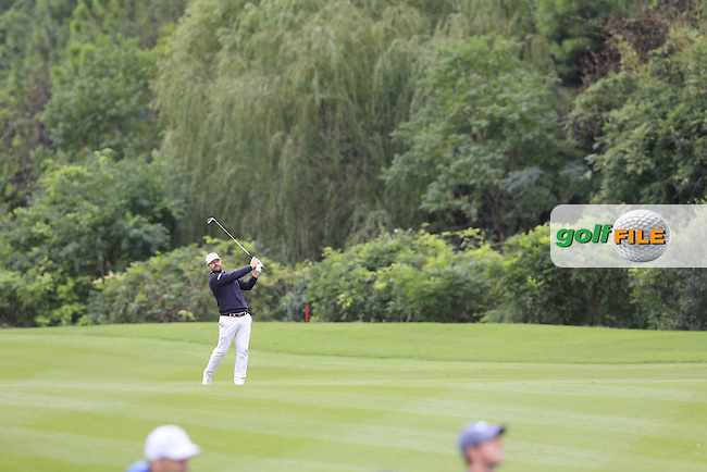 Ryan Moore (USA) on the 8th during the final round of the WGC-HSBC Champions, Sheshan International GC, Shanghai, China PR.  30/10/2016<br /> Picture: Golffile   Fran Caffrey<br /> <br /> <br /> All photo usage must carry mandatory copyright credit (&copy; Golffile   Fran Caffrey)