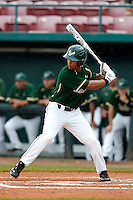 USF Bulls outfielder James Ramsey #15 at bat during a game against the Minnesota Gophers at the Big Ten/Big East Challenge at Al Lang Stadium on February 19, 2012 in St. Petersburg, Florida.  (Mike Janes/Four Seam Images)