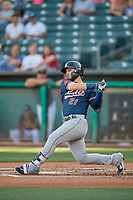 Wyatt Mathisen (21) of the Reno Aces bats against the Salt Lake Bees at Smith's Ballpark on June 26, 2019 in Salt Lake City, Utah. The Aces defeated the Bees 6-4. (Stephen Smith/Four Seam Images)