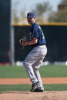 Milwaukee Brewers relief pitcher Chase Williams (59) during a Minor League Spring Training game against the Colorado Rockies at Salt River Fields at Talking Stick on March 17, 2018 in Scottsdale, Arizona. (Zachary Lucy/Four Seam Images)