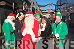 Carly and Rita Horan with Santa and his helpers at Abbeycourt on Wednesday.