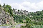 Hilltop villages during Stage 1 of the Route d'Occitanie 2019, running 175.5km from Gignac-Vallée de l'Hérault to Saint-Geniez-d'Olt-et-d'Aubrac , France. 20th June 2019<br /> Picture: Colin Flockton | Cyclefile<br /> All photos usage must carry mandatory copyright credit (© Cyclefile | Colin Flockton)