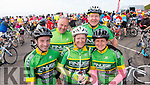 Shane McSweeney, George O'Grady, Keith McCarthy, Mike Dalton and Anne McCarthy, all Finuge at the top of Coomakista at the Ring of Kerry cycle on Saturday.