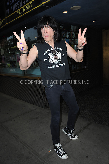 WWW.ACEPIXS.COM<br /> June 9, 2015 New York City<br /> <br /> Marky Ramone attending a screening for 'The WolfPack' at The Sunshine Landmark Cinema on June 9, 2015 in New York City.<br /> <br /> Please byline: Kristin Callahan/ACE<br /> Tel: (646) 769 0430<br /> e-mail: info@acepixs.com<br /> web: http://www.acepixs.com