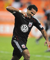 DC United forward Dwayne De Rosario (7) celebrates his second goal in the 64th minute of the game. DC United tied Toronto FC 3-3 at RFK Stadium, Saturday August 6 , 2011.