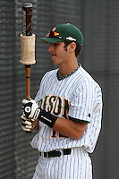 March 17, 2010:  Catcher Tyler Steen (12) of North Dakota State University Bison vs. Long Island University at Lake Myrtle Park in Auburndale, FL.  Photo By Mike Janes/Four Seam Images