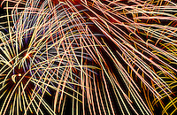 Fireworks display at fourth of July celebration in Hilo, Big island of Hawaii