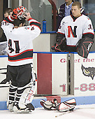 Adam Geragosian, Doug Jewer - The Boston College Eagles and Northeastern University Huskies tied at 1 on Saturday, October 22, 2005, at Matthews Arena in Boston, Massachusetts.