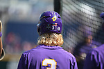 OMAHA, NE - JUNE 26: Kramer Robertson (3) of Louisiana State University prepares with his teammates before they take on the University of Florida during the Division I Men's Baseball Championship held at TD Ameritrade Park on June 26, 2017 in Omaha, Nebraska. The University of Florida defeated Louisiana State University 4-3 in game one of the best of three series. (Photo by Justin Tafoya/NCAA Photos via Getty Images)